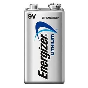 Energizer L522 Lithium Battery, 9V, 750 mAh at 25 mA