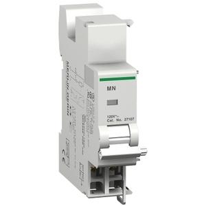 Square D 27107 Breaker, Multi 9, Undervoltage Release, 120VAC, 2 Modules Width