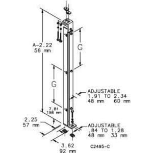 Hoffman A72FSCPS Center Panel Support 72''