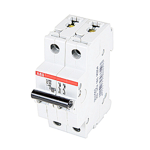 ABB S202-C25 Mini Circuit Breaker, 2P, 25A