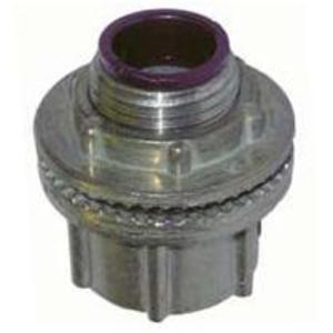 "Hubbell-Raco 1702 Conduit Hub, 1/2"", Insulated, Raintight, Zinc Die Cast"