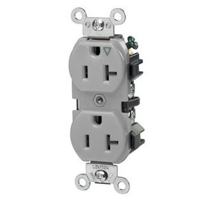 Leviton 5362-IGG 20 Amp Isolated Ground Duplex Receptacle, 125V, 5-20R, Gray