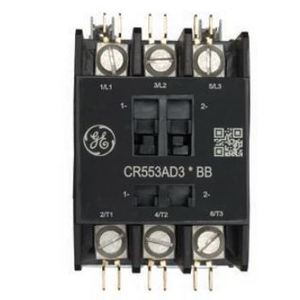 GE CR553AD4ABB DP CONTACTOR 4POLE 40 AMPS 120V COIL