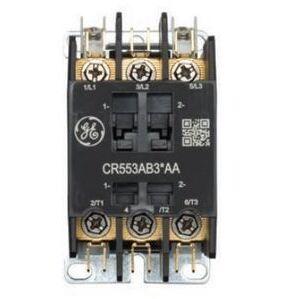 GE CR553AB4HAA Contactor, Definite Purpose, 4P, 25A, 24VAC Coil, Open