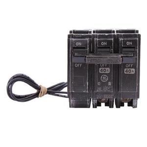 GE THQL2140ST1 Breaker, 40A, 2P, 120/240V, 10 kAIC, Shunt Trip 120VAC