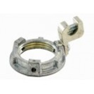 "Bridgeport Fittings 163-G Grounding Locknut, 1"", 14 - 4 AWG Lug, Zinc Die Cast"