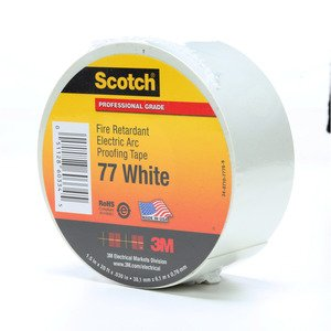 3M 77-WHITE-1-1/2X20FT Scotch® Fire-Retardant Electric Arc Proofing Tape