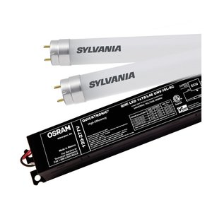 SYLVANIA QHE-1XLEDT8/UNV-ISN-SC High Efficiency Normal Power LED System, 120-277V