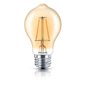 Philips Lighting 4.5A19B/LEDFILAMENT/822/CL-A/DIM-120V Dimmable Filament LED Lamp, 4.5W, A19, Medium Base (E26), 120V, 2000K