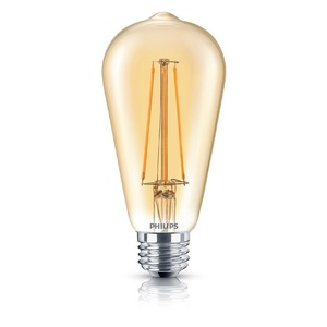 Philips Lighting 5.5ST19/LEDFILAMENT/822/CL-A/DIM-120V Dimmable Filament LED Lamp, 5.5W, ST19, Medium Base (E26), 120V, 2000K