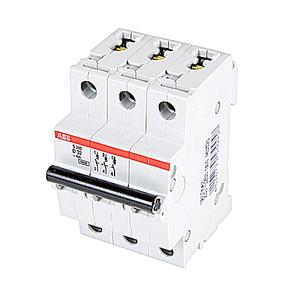 ABB S203-D32 Breaker, Miniature, DIN Rail Mount, 32A, 3P, 480Y/277VAC, 6kAIC