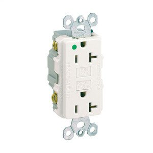Panduit EGU20IW-X 20 AMP GFCI Rectangular Outlet
