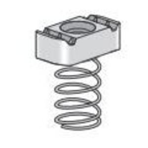 "Power-Strut 10-3/8EG Spring Nut, Type Regular Spring, 3/8"", Steel"