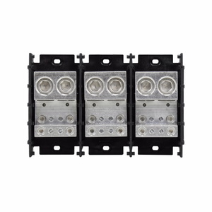 Eaton/Bussmann Series 16528-3 Power Distribution Block, 3-Pole, Double Primary - Multiple Secondary