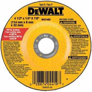 "DEWALT DW4514 4-1/2"" Grinding Wheel"