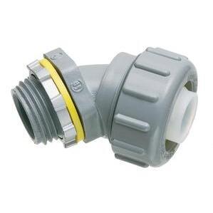 "Arlington NMLT4550 Liquidtight Connector, 45°, 1/2"", Non-Metallic"