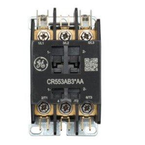 GE CR553AB2HAA Contactor, Definite Purpose, 2P, 25A, 24VAC Coil, Open