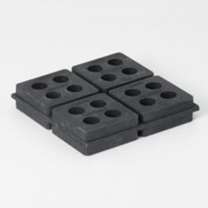 Eaton B-Line VRP-324 Rubber Cube Pad, 4-in. X 4-in.