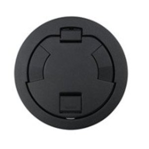 "Wiremold 6CT2BK Flush Style Cover Assembly, 7-1/4"" Round, Black"
