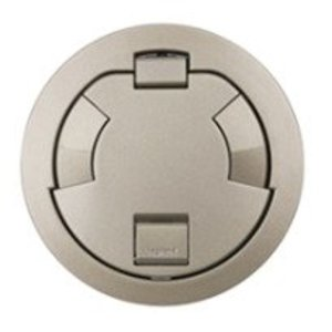 "Wiremold 6CT2NK Flush Style Cover Assembly, 7-1/4"" Round, Nickel"