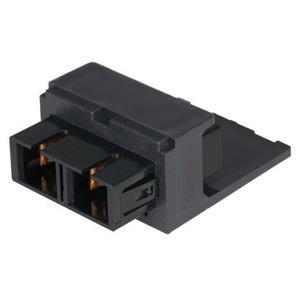 Panduit CMDBUSCBL SC Duplex Fiber Adapter, Black, Min-Com, Phosphor Bronze
