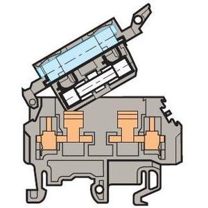 ABB Entrelec 011566121 Terminal Block, Fuse Holder, 8mm, Type: M 4/8.SFL, Gray