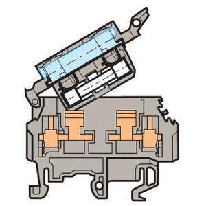 ABB Entrelec 011566323 Terminal Block, Fuse Holder, 8mm, Type: M 4/8.SFL, Gray
