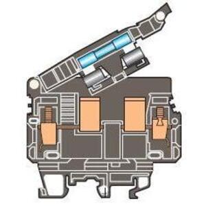 ABB Entrelec 019916800 Fuse Holder Terminal Block, Type: ML 10/13.SFL