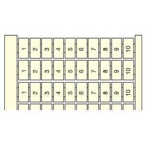 ABB Entrelec 023306004 Terminal Block, RC610, Vertical Marking Cards, 6mm, Legend: 1 - 100