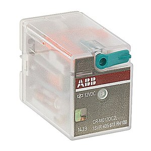 ABB Entrelec 1SVR405611R4100 Interface Relay, Plug-In, 12A, SPDT, 250VAC Rated, 12VDC Coil