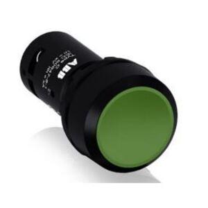 ABB CP110G-10 22mm Assembled Pushbutton, Flush, Green, Compact