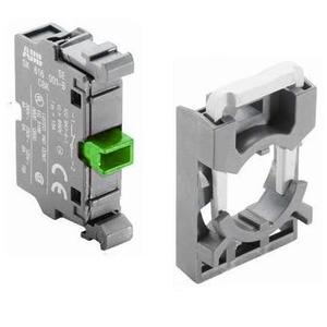 ABB MCBH-10 Pilot Device, 22mm Contact Block and Holder, 1NO, Front Mount