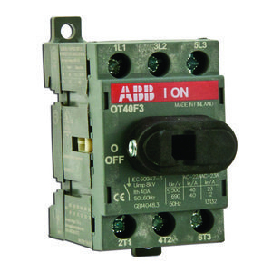 ABB OT40F3 Disconnect switch, Non-Fused, 40A, 3P, 690VAC, Front Operated