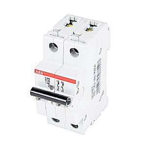 ABB S202-C25 Mini Circuit Breaker, 2P, 25A