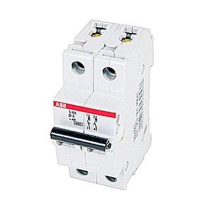 ABB S202-D4 Circuit Breaker, Miniature, DIN Rail Mount, 4A, 2P, 480Y/277VAC