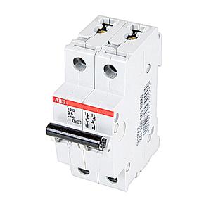 ABB S202-D6 Circuit Breaker, Miniature, DIN Rail Mount, 6A, 2P, 480Y/277VAC