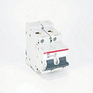 ABB S502-K4.2 Circuit Breaker, Miniature, DIN Rail Mount, 4.2A, 2P, 600Y/347VAC