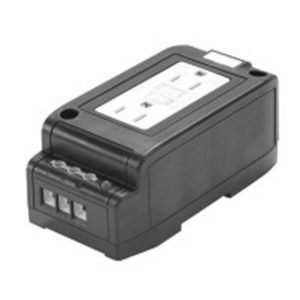 Acme DRR15 Receptacle, Duplex, DIN Rail Mounted, 15A, 120VAC, Touch Proof