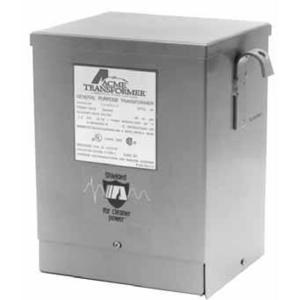 Acme T253012S Transformer, 2KVA, 1P, 240/480V, 120/240V, Isolation