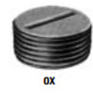 "Adalet OX-4 Close-Up Plug, Recessed Head, Explosionproof, 1"", Steel"