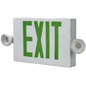 All-Pro Lighting APC7G Emergency Combo Exit/Light, LED, White, Green Letters