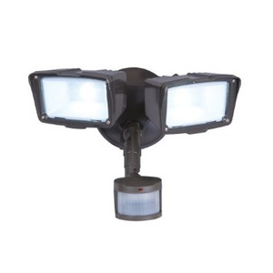 All-Pro Lighting MST18920LES Flood Light, LED, Motion Sensor, 31W, Bronze