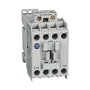 Allen-Bradley 100-C16EJ10 Contactor, IEC, 16A, 3P, 24VDC Electronic Coil w/Integrated Diode