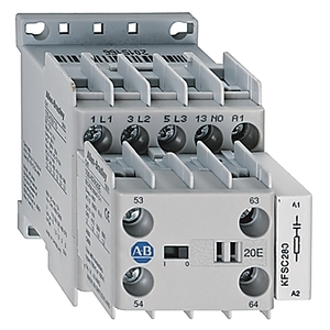 Allen-Bradley 100-K05ZJ10 Contactor, Miniature, 5A, 3P, 24VDC Coil, 1NO Auxiliary Contact