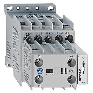 Allen-Bradley 100-K09ZJ10 Contactor, Miniature, 9A, 3P, 24VDC Coil, 1NO Auxiliary Contact
