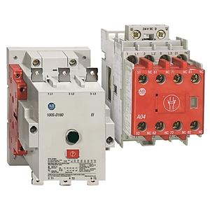 Allen-Bradley 100S-D140D22BC Contactor, Safety, 140A, 120VAC Coil, 2NO, 2NC Aux.
