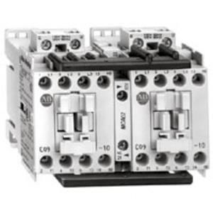 Allen-Bradley 104-C09A22 Contactor, Reversing, IEC, 9A, 3P, 240VAC Coil, 1NO/1NC Auxiliary