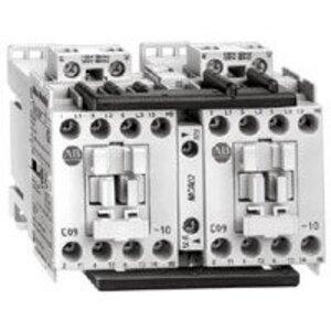 Allen-Bradley 104-C09D22 Contactor, Reversing, 9A, 3P, 120VAC Coil, 1NO/NC