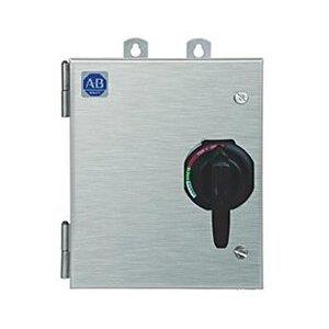 Allen-Bradley 1232X-CNA-A1J-25R Pump Panel, NEMA 2, 45A, 240VAC Coil, Disconnect Switch, NEMA 3R