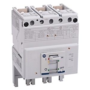 Allen-Bradley 140G-H3X3 Circuit Breaker, Molded Case, Frame H Only, 125A, 3P, 600V